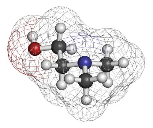 DMAE 3D molecule