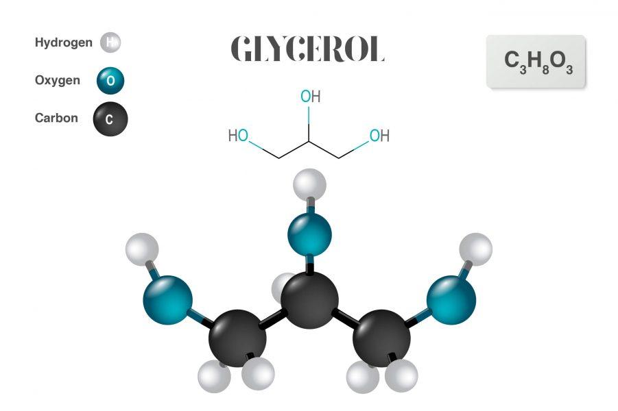 Illustration of glycerol molecule
