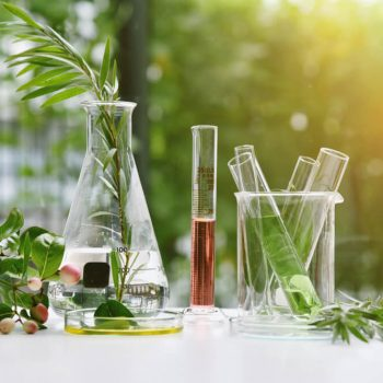 Natural extracts in test tubes