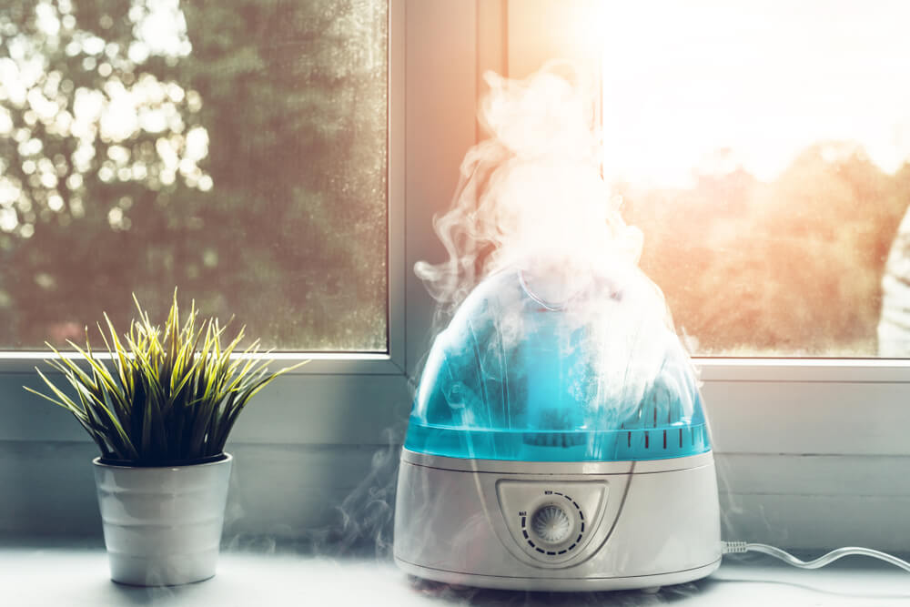 Humidifier in room